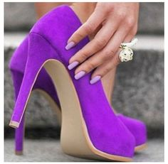 Who can resist these killer purple heels?