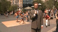 Reporter loses his pants during a live street broadcast