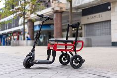 Suitcase-sized folding e-scooter goes Lite, rolls for longer 3 Wheel Scooter, E Scooter, Scooter Girl, Electric Tricycle, Electric Scooter, Electric Vehicle, Leg Work, Baby Strollers, Suitcase