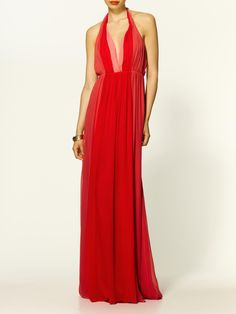 Silk Halter Gown  by Halston Heritage