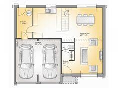 Plans de maison rdc du mod le senior maison traditionnelle tage de 120 - Plan maison avec suite parentale ...