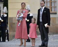 9 September 2016 - Princess Victoria and her family attend Prince Alexander's Christening - dress by Elie Saab