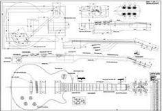 Image result for guitar les paul blue print