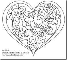 Hand Embroidery Pattern: Heart o' Flowers Free Hand Embroidery Pattern: Heart o' Flowers. I need to applique this pattern.Free Hand Embroidery Pattern: Heart o' Flowers. I need to applique this pattern. Embroidery Hearts, Paper Embroidery, Hand Embroidery Patterns, Vintage Embroidery, Beaded Embroidery, Cross Stitch Embroidery, Machine Embroidery, Embroidery Tattoo, Embroidery Letters