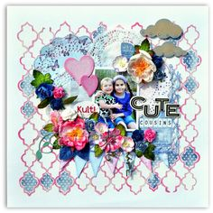 Paper and Glue Heaven: Cute Cousins for DT Papirdesign. Scrapbook Pages, Scrapbooking, Cousins, Heaven, Paper, Cute, Blog, Crafts, Kawaii