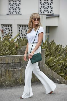 white top, pants @roressclothes closet ideas #women fashion outfit #clothing style apparel