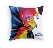 Throw Pillow • Also buy this artwork on apparel, stickers, phone cases, and more.  #ripchesterbe #ripchesterbennington #rockstar #hipmetal #metal #pop #chesterbennington #music #musician #masterpiece #legend #allstar #linkinpark