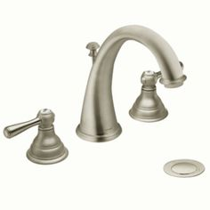 Master Bath Faucets - Kingsley Brushed nickel two-handle high arc bathroom faucet - T6125BN