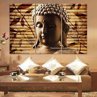 Bamboe bladeren van Boeddha DIY Diamant Borduurwerk ambachten Mozaïek Multigang 3d Diamant Schilderen Kruissteek Steentjes home decor