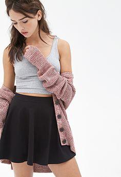 Classic Knit Skater Skirt   FOREVER21 - 2055878518