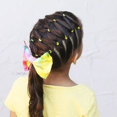 This pretty elastic style is inspired by @little_princess_hairstyle . . . . . . . . . . . . #hair #lrhairstyles #hairinspiration #hairstyles #braids #braidsforgirls #braidsforlittlegirls #braidedhair #braidedhairstyles #toddlerhairstyles #elastics #elastichairstyles #fabricbows #diyfabricbows #longhair #instahair #hairstylesforgirls #hairideas #hairideasforlittlegirls #cghphotofeature #tangledandtrue #cutehairstyles #easyhairstyles