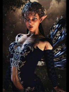 Fairy helps Bryn understand the prophecy about her. Fantasy Images, Fantasy Women, Fantasy Artwork, Magical Creatures, Fantasy Creatures, Woodland Creatures, Elfen Fantasy, Drawn Art, Fairy Pictures