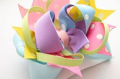 Surround a Bow with a crafty how to video how to make hairbows #hairbow #bowtutorial