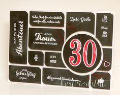 Kreativwerkstatt Karin Müller, Stampin' Up!, Karte zum 30 Jährigen Geburtstag