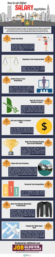 10 Tricks to Getting a Higher Salary #INFOGRAPHIC