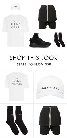 """VETEMENTS"" by bartoszbienko on Polyvore featuring Vetements, Balenciaga, DRKSHDW, adidas Originals, men's fashion i menswear"