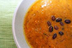 Black bean pumpkin soup by smittenkitchen