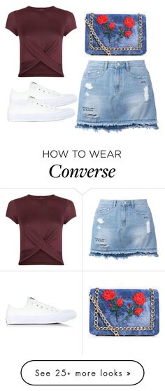 """""""Untitled #4008"""" by evalentina92 on Polyvore featuring New Look, Steve J & Yoni P, Converse and Boohoo"""