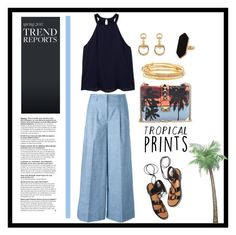 """""""Untitled #330"""" by chlochlo5525 on Polyvore featuring Incotex, MANGO, Rosetta Getty, Gucci, Jaeger, Kate Spade, tropicalprints and hottropics"""
