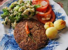 Receita de Hamburguer de feijão preto com quinoa - Cyber Cook Receitas...