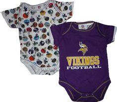 Baby Boy Minnesota Vikings tie onesie