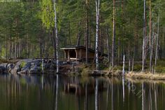 Kuva: Laavu iltavalossa - retkeily vaellus luonto metsämaisema ... Camping Life, Outdoor Life, Nature Pictures, Campers, The Great Outdoors, Mother Nature, Wilderness, Places To See, Shelter