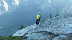 Tommy Caldwell and Kevin Jorgeson celebrating their ascent of the Dawn Wall, January 14, 2015.