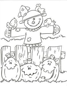 halloween coloring pages scarecrow pumpkins