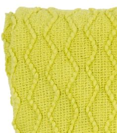 Throw rug chartreuse zig zag pattern & fringing durable acrylic new fashion Z