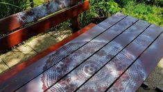 Jana Melas Pullmannová: Záhradné sedenie - renovácia Wood, Table, Furniture, Home Decor, Madeira, Homemade Home Decor, Woodwind Instrument, Wood Planks, Mesas