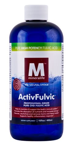 Mineralife's ActivFulvic Supplement is a pure, patented, clinically tested, professional form of carbohydrate-derived Fulvic Acid (CHD-FA). The ionic liquid form allows for quicker absorption than tablets or capsules, which must first dissolve in the digestive system before being absorbed. $33.95