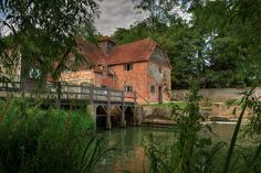 The Mapledurham watermill near Reading is the last working watermill on the river Thames.