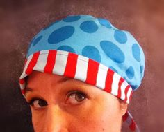 Tieback Scrub Hat and Chemo Head Wrap PDF SEWING PATTERN Fully Adjustable, Instant Download