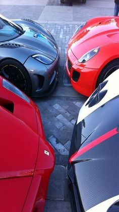 Supercar kissing! Can you name the cars? / 80% OFF on Private Jet Flight! www.flightpooling.com  #cars #luxury