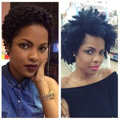 8 months apart! If you are considering the big chop just do it. You will not regret it. #flawless