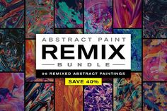Ad: Abstract Paint Remix Bundle by Chroma Supply on 96 custom pieces of abstract art created by remixing several different abstract paintings. All paintings are carefully created by hand, Plastic Texture, Print Design, Graphic Design, Tour Posters, Pencil Illustration, Creative Illustration, Illustrations, Creative Sketches, Paint Markers