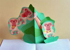 Libros Pop-Up Books Cards: Cómo Hacer un Divertido Libro Pop-Up de Animales! Libros Pop-up, Tarjetas Pop Up, Pop Up Cards, Dinosaur Stuffed Animal, Toys, Paper, Crafts, Homework, Animals