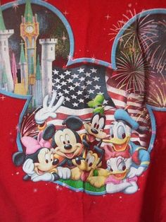 Disneyland T shirt Mickey Mouse Donald Duck Youth Size 10-12   $11.59