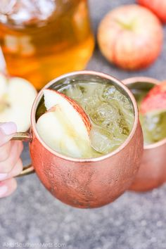 Bourbon Cider Sours: Bourbon neatly blended with apple cider and orange juice over a mug of ice and raw sugars. Sweet enough to guzzle, stiff enough to sip.