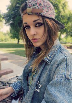 cute cap girl