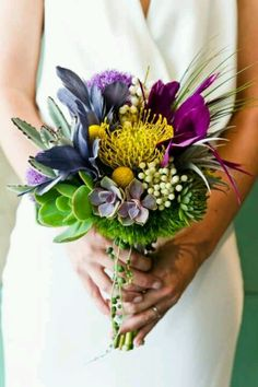 #Succulent Bouquet too much purple. but i like it. maybe