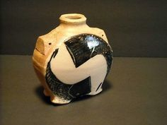 Michael Simon 61/2-inch Salt-Fired Round footed Art Pottery Vase Signed MS (10/28/2013)