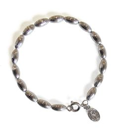Charleston Rice Bead Bracelet (shiny silver) from Candy Shop Vintage