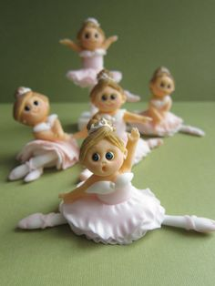 Ballerina Cupcake Toppers  6 Ballerina Dolls 1 by mimicafeunion