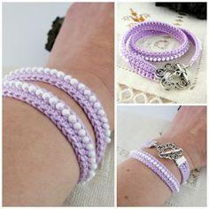 Pitiusas & Petetes: DIY: Double crochet bracelet PATTERN {FREE} ༺✿ƬⱤღ✿༻