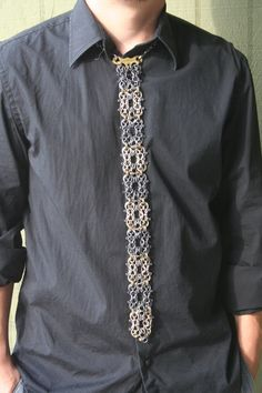"Chainmaille Necktie ""Omega Design"". $950.00, via Etsy."