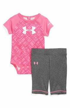 Under Armour AllSeasonGear® Bodysuit & Pants (Baby Girls) available at just in case amanda has a girl(: Little Doll, My Little Girl, My Baby Girl, Our Baby, Baby Girls, Baby Girl Gear, Baby Girl Pants, Baby Outfits, Kids Outfits