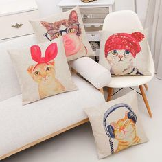 Limited Edition Cat Pillow Cover Case offer deal