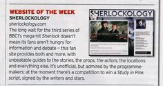 We discovered this evening that UK TV listings magazine Radio Times has named Sherlockology.com the Website of Week in their new issue, out in shops today!  A rather lovely and unexpected surprise!