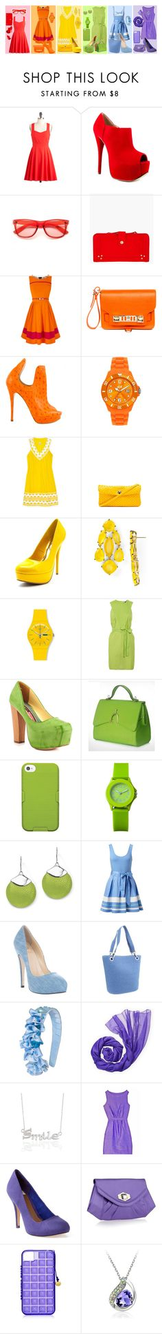 """untitled #25"" by melati-silvya-devi ❤ liked on Polyvore featuring Luichiny, Jérôme Dreyfuss, Oasis, Proenza Schouler, Ice-Watch, Milly, Bottega Veneta, Charlotte Russe, Kate Spade and Swatch"